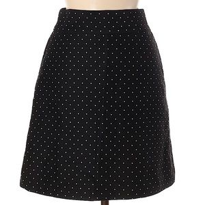 Kate Spade Polka Dot Black Skirt